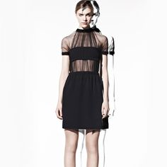 Cool silhouette. Kind of predictable in black, though. // Christopher Kane via Moda Operandi