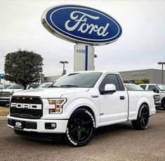 bringing you the Streets hottest 🔥 and fastest 💨 trucks out! Custom Pickup Trucks, Ford Pickup Trucks, New Trucks, Cool Trucks, Chevy Trucks, Lowered Trucks, Lowered F150, Ford Svt, Ford Raptor