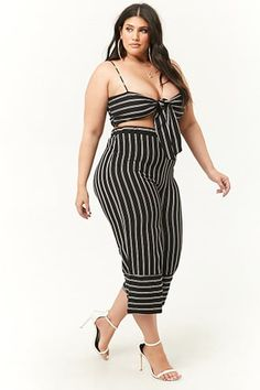 Forever 21 Plus Size Striped Culottes
