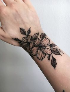 50 Meaningful Wrist Bracelet Floral Tattoo Designs For You - Page 4 of 50 - Chic. - 50 Meaningful Wrist Bracelet Floral Tattoo Designs For You – Page 4 of 50 – Chic Hostess tattoo - Mini Tattoos, Body Art Tattoos, Small Tattoos, Tatoos, Modern Tattoos, Piercing Tattoo, Piercings, Tattoo Designs, Floral Tattoo Design