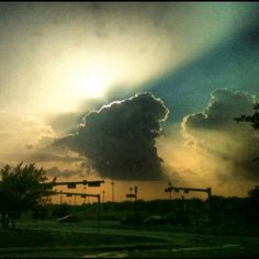 Thunderstorm near The Colony,tx. Living in Texas with my new husband, Scotty Polk.....