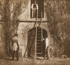"William Henry Fox Talbot. ""The Pencil of Nature - The Ladder, Plate 14, Lacock Abbey"". 1844. Lacock, Wiltshire, England, UK."