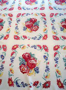Vintage Tablecloth I love these. I have some of my mom's.