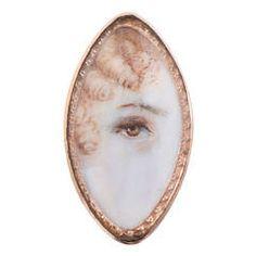 Lozenge-Shaped Victorian Lover's Eye