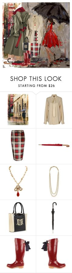 """""""Girl In The Rain"""" by halebugg ❤ liked on Polyvore featuring Ralph Lauren, Loro Piana, Boohoo, Jigsaw, Chanel, Stella & Dot, Moschino, Pasotti Ombrelli, Joules and Brooks Brothers"""