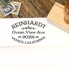 Vintage style custom address stamp makes a great personal holiday and housewarming gift by Designkandy, $26.00