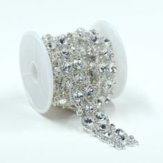 Amazon.com  Seasofbeauty 1 Yard Silver Tone Rhinestone Crystal Sewing Trims  Applique Costume Chain Silver d936ed1d2d63