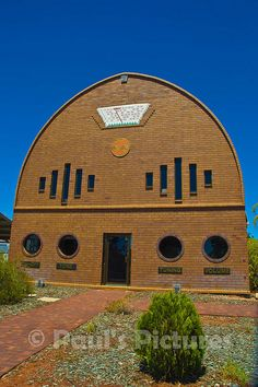 A-Local-Radio-Station-in-its-own-Radio-shaped-bu ilding-in-outback-Australia