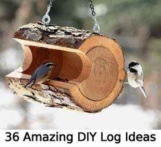 36 Amazing DIY Log Ideas #LogFurniture