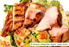 Csirkesaláta Kornél konyhájából My Recipes, Zucchini, Tacos, Mexican, Vegan, Chicken, Vegetables, Ethnic Recipes, Food