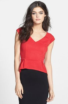 Dirty Ballerina High/Low Peplum Top available at #Nordstrom