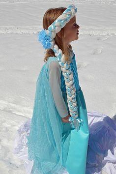 Adorable Handmade Frozen Costumes Worth Melting For - Modern Elsa Frozen, Frozen Tutu, Frozen Costume, Princess Anna Costume, Princess Tutu Dresses, Frozen Crochet Hat, Little Girl Dresses, Flower Girl Dresses, Olaf Halloween Costume