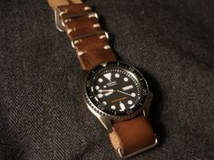 Seiko SKX007 with Bulang & Sons Nato strap in Lumberjack leather