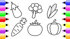 vegetables draw easy vegetable coloring drawing children nice crafts youtu arts