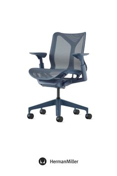 Create a comfortable, beautiful office with Cosm—now available with height-adjustable arms in the chair's signature Dipped-in-Color aesthetic. Ideal for spaces across the floorplan—from collaborative settings to individual workstations—this office chair comes in six colors. Choose from three saturated Dipped-in-Color options or three neutrals to brighten office workspaces.