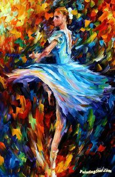 The spining dancer Artwork by Leonid Afremov