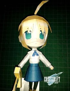 Fate/Stay Night - Chibi Saber Ver.5 Free Figure Papercraft Download - http://www.papercraftsquare.com/fatestay-night-chibi-saber-ver-5-free-figure-papercraft-download.html#Chibi, #FateStayNight, #Saber