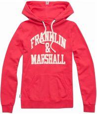 Women's sweatshirt with hood and Franklin & Marshall print