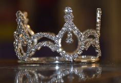 Rhinestone Princess Crown photo prop for baby infant toddler, birthday Bling on Etsy, $19.00
