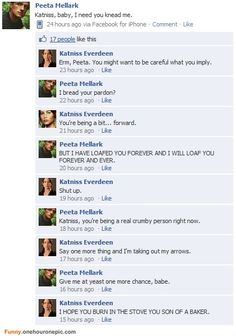 Will I ever tire of the implication that Peeta Mellark only speaks in puns? All signs point to 'no'.