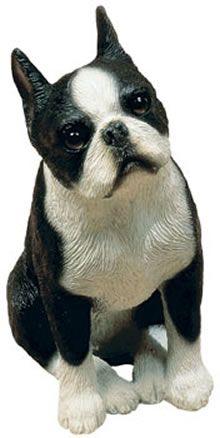 Boston Terrier Dog Figurine by Sandicast