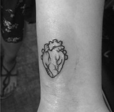 Anatomical heart tattoo, heart tattoo, wrist tattoo... so cute!!