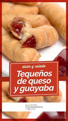 Tequeños de Guayaba y Queso Venezuelan Food, Colombian Food, Pan Dulce, Empanadas, Hot Dog Buns, Cake Recipes, Food And Drink, Cooking Recipes, Tasty
