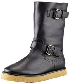 Stella McCartney Faux-Fur Lined Cold Weather Boot, Black on shopstyle.com