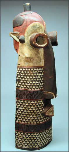 "Africa | ""Pumbu"" mask from the Pende people of DR Congo 