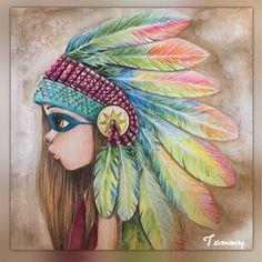 Rainbow Indian  Emmanuelle Colin Coloriage  Wild
