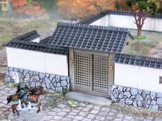 Dungeons and Dragons Samurai Stone Walls Gate Wargame Alien Worlds, Warhammer Terrain, L5r, Wargaming Terrain, Japanese Interior, Dungeons And Dragons, See Images, Japanese House, Tabletop Games
