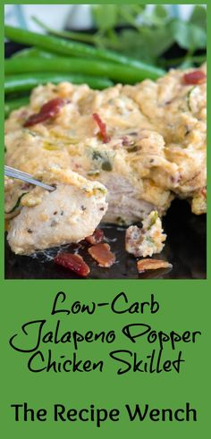 Brace Yourself Low Carb Jalapeno Popper Chicken. Every one of Your Favorites In One Place. What's more, It's Easy To Make The Recipe Wench Keto Foods, High Carb Foods, Low Carb Diet, Carb Free Foods, Keto Meal, Low Carb Recipes, Diet Recipes, Chicken Recipes, Cooking Recipes