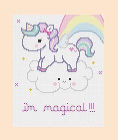 PDF Pattern Magical Unicorn Cross Stitch Pattern by mydarlingplum