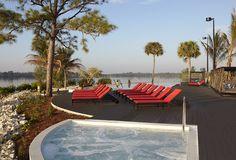 El jacuzzi de la piscina calma en Club Med Sandpiper Bay - EEUU