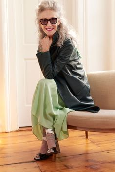 This 68-Year-Old Model Is Coveted By Designers at Home and Abroad