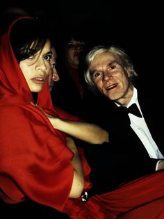 Bianca Jagger and Andy Warhol #Andy Warhol #celebrity
