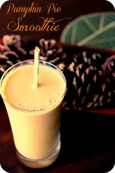 pumpkin pie smoothie  Blend together 1 small very ripe banana, 1?2 cup pureed pumpkin (canned or fresh), 3?4 cup Almond Breeze vanilla almond coconut milk, 3?4 tsp pumpkin spice and 1 cup ice.