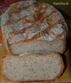 Domáci chlieb z tradičného kvásku (fotorecept) Czech Recipes, Russian Recipes, Pan Bread, Bread Baking, Bread Recipes, Cooking Recipes, 20 Min, Bread Rolls, Freshly Baked