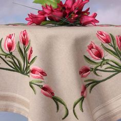 Lale... Masaörtüsü Embroidery