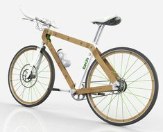 BKR Ecoframe Bicycle - Carbon fiber bikes are all the rage these days, but less processed materials like wood are certainly able to do the job. The BKR Ecoframe Bicycle m. Wooden Bicycle, Wood Bike, Electric Mountain Bike, Electric Bicycle, Urban Bike, Bicycle Parts, Bike Style, Bike Frame, Bicycle Design