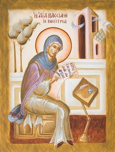 Each original icon I paint is unique and a labour of prayer and love. I accept commissions for hand-painted icons of Orthodox Saints and Feasts etc. For more information use the contact form below. Byzantine Icons, Byzantine Art, St Clare's, Paint Icon, Holy Week, Thing 1, Orthodox Icons, I Icon, Sacred Art