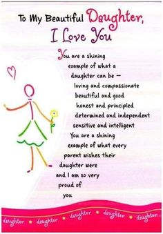 Happy Birthday Quotes to My Daughter . 19 Fresh Happy Birthday Quotes to My Daughter . Birthday Wishes for Daughter In Law Birthday Wishes Mother Daughter Quotes, I Love My Daughter, My Beautiful Daughter, Daughter Sayings, Proud Of You Quotes Daughter, Birthday Quotes For Daughter, Brother Birthday, Brother Sister, Sayings About Daughters