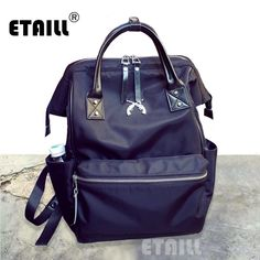 36.91$  Watch now  - New Casual Women Famous Luxury Brand Backpack Waterproof Men Nylon Bagpack Portfolio School for Teenagers Sac a Dos Femme