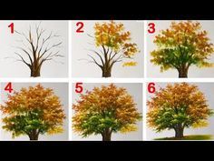 How to Paint a Tree with Acrylic lesson 15 - YouTube