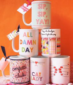 Coffee mugs make for the best gifts! Whether you are gifting them to your best friend or maybe yourself, our new mugs are sure to brighten your day!