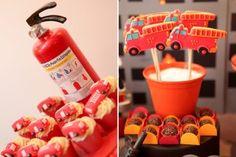 festinha-bombeiros-5 Fireman Birthday, Fireman Party, 3rd Birthday, Paw Patrol Party, Fire Trucks, Firefighter, Party Themes, Birthdays, Parties Kids