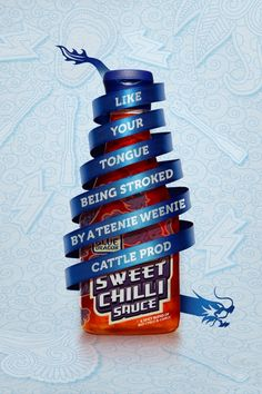 Blue Dragon Sweet Chilli Sauce: Mermaid, Electric eels, Chinese burn, Cattle prod
