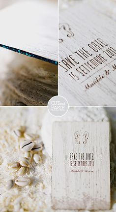 wooden save the dates #wedding