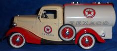 SOLIDO PRESTIGE TEXACO 1936 Ford Citerne Truck Tanker with decals white/red  E1 #Solido