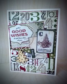 Pinecone Press card kit inspired Christmas card featuring Simple Stories' 25 Days collection and wood veneer Christmas tree from Paper Chase Christmas Cards, Christmas Tree, Simple Stories, Pinecone, Card Kit, Wood Veneer, Card Making, Paper Crafts, Scrapbook